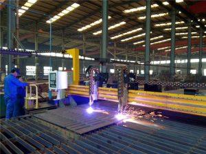 Gantry CNC Plasma Cutting Machine lan mesin nglereni nyala kanggo piring baja